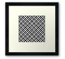 Op art geometric pattern  Framed Print