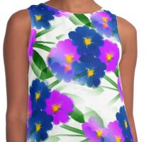 Abundance Of Painted Flowers Contrast Tank