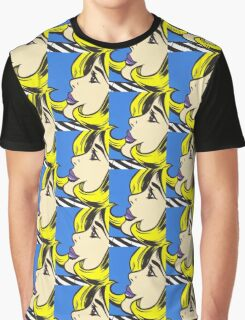 Blonde Comic Girl Graphic T-Shirt