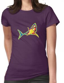 Heat Vision - Shark Womens Fitted T-Shirt