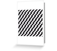 Black and white zigzag pattern print Greeting Card