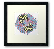 chrysanthemum bees Framed Print