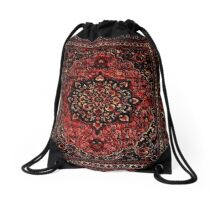Persian carpet look in rose  Drawstring Bag