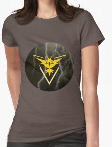 Pokemon Go - Team Instinct (lightning circle 1) Womens Fitted T-Shirt
