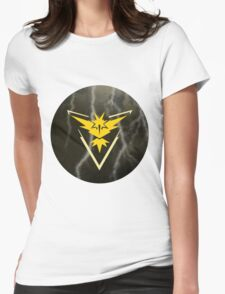 Pokemon Go - Team Instinct (lightning circle 1) Womens Fitted T-Shirt
