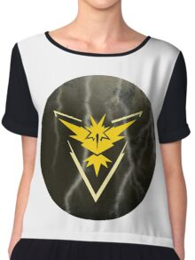 Pokemon Go - Team Instinct (lightning circle 1) Chiffon Top