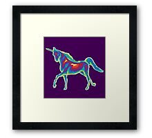 Heat Vision - Unicorn Framed Print