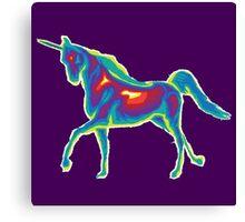 Heat Vision - Unicorn Canvas Print