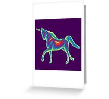 Heat Vision - Unicorn Greeting Card