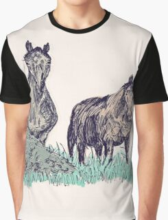 2 Wild Horses Graphic T-Shirt