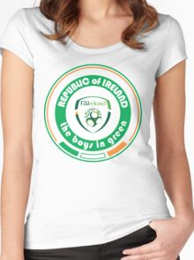 Euro 2016 Football - Team Republic of Ireland Women's Fitted Scoop T-Shirt