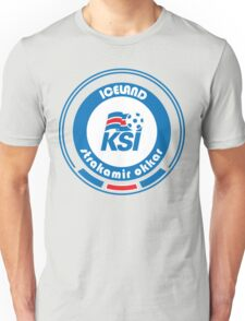 Euro 2016 Football - Team Iceland Unisex T-Shirt