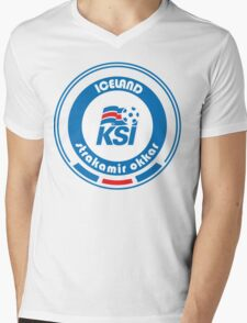 Euro 2016 Football - Team Iceland Mens V-Neck T-Shirt