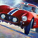 1956 Ferrari 250 GT Berlinetta 'Tour de France' by Carrozzeria Scaglietti  by Yuriy Shevchuk