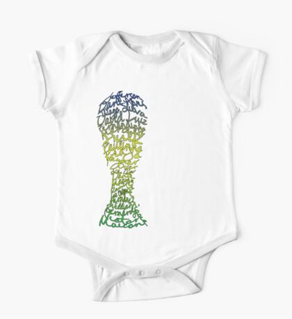 Brazilian World Cup Squad 2014 One Piece - Short Sleeve