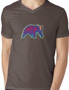 Heat Vision - Polar Bear Mens V-Neck T-Shirt