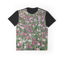 Field Of Pink Tulips Graphic T-Shirt