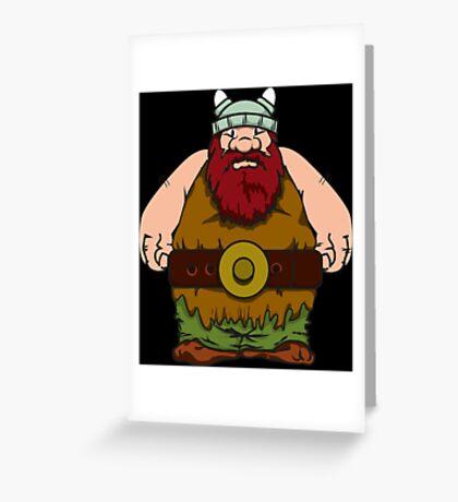 big wik - wikinger - viking olaf Greeting Card