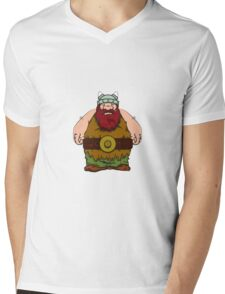 big wik - wikinger - viking olaf Mens V-Neck T-Shirt