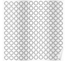 Geometric pattern with rounded squares Poster