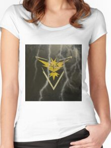 Pokemon Go - Team Instinct (lightning square) Women's Fitted Scoop T-Shirt
