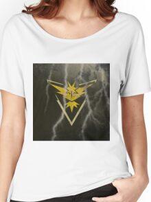 Pokemon Go - Team Instinct (lightning square) Women's Relaxed Fit T-Shirt