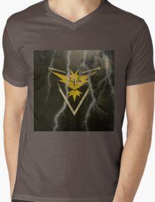 Pokemon Go - Team Instinct (lightning square) Mens V-Neck T-Shirt