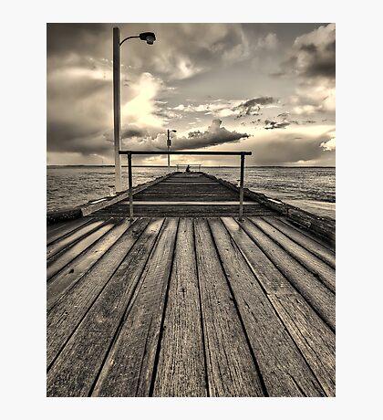 Lonely fisherman Photographic Print