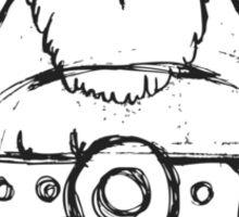 Wikinger, viking, olaf, bart, beard, danger, bellt, gürtel, cap, hat, grim, grimly, big,  fat, strong, helm, helmet, nordisch, north, horn Sticker