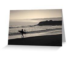 Twilight Surfers Toned Greeting Card