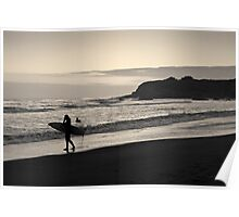 Twilight Surfers Toned Poster