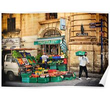 Valletta City Fruit & Vegetables - Street Photography in Malta Poster