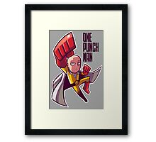 <ONE PUNCH MAN> Saitama Cartoon Style Framed Print
