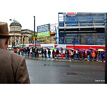Wet Summers  day in Liverpool China Town  Photographic Print