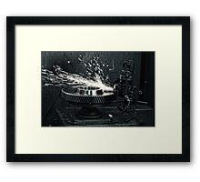 Sparks b/w Framed Print