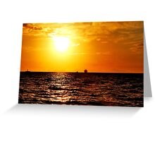 Dreamlight at the Baltic Sea Greeting Card