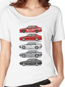 Stack of Alfa Romeo 75 Tipo 161, 162B Milanos  Women's Relaxed Fit T-Shirt
