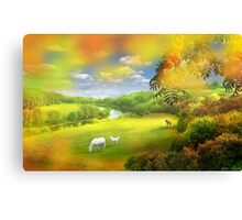 By The Riverbank Canvas Print