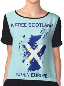 I Support A Free Scotland Within Europe Chiffon Top