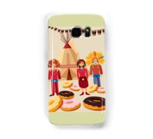 Donuts ate red indians Samsung Galaxy Case/Skin