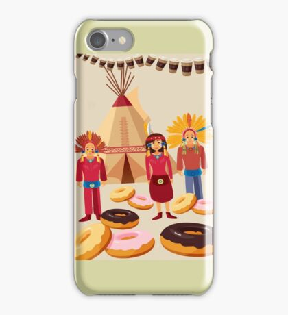Donuts ate red indians iPhone Case/Skin