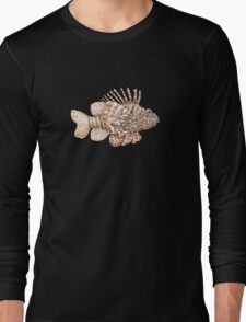 Lionfish illustration, pen and ink Long Sleeve T-Shirt