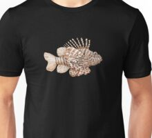 Lionfish illustration, pen and ink Unisex T-Shirt