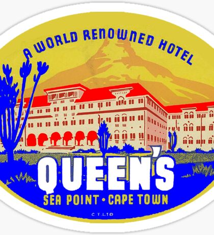 QUEENS HOTEL CAPETOWN CAPE TOWN SOUTH AFRICA LUGGAGE LABEL VINTAGE BAGGAGE STICKER Sticker