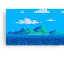 Pixel Island Canvas Print