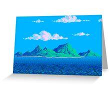 Pixel Island Greeting Card