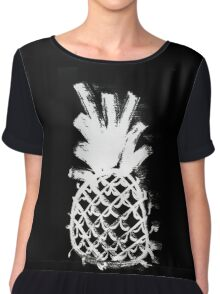 Ink Pineapple Chiffon Top