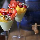Avocado Yoghurt and Fruit by Astrid Ewing Photography