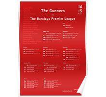 Arsenal 14/15 Fixtures Poster Poster