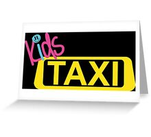 kids taxi Greeting Card